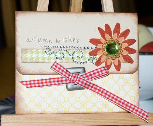 envelope folding card